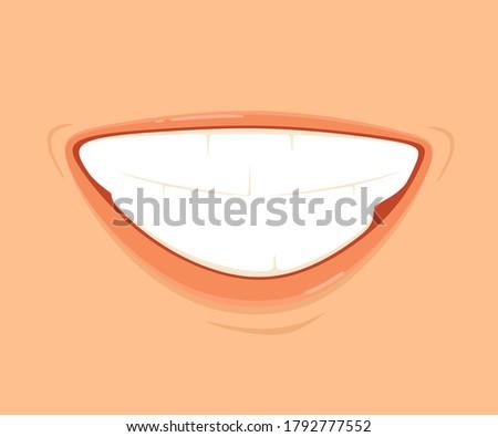 a sarcastic smile vector