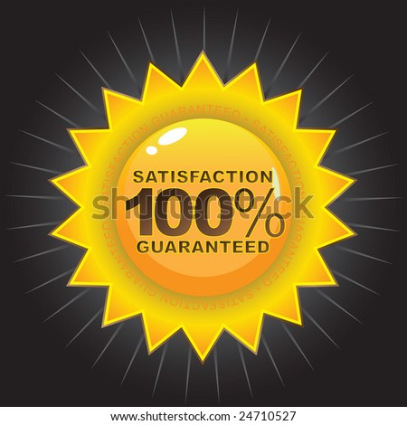 A Satisfaction Guaranteed seal logo that works great on product packaging or on the web.
