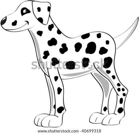 A scalable vector of a single dalmatian dog