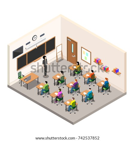 a school room for study  a