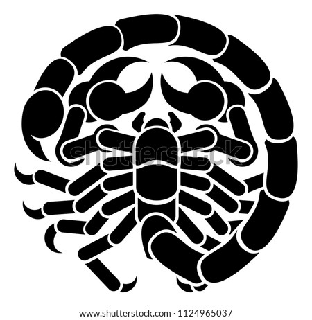 A Scorpio scorpion horoscope astrology zodiac sign symbol