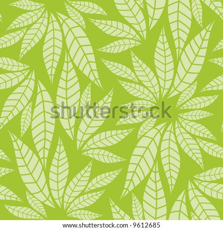 a seamless leaves pattern Select all the art and drop it into your swatches palette to create the pattern in Adobe Illustrator. - stock vector
