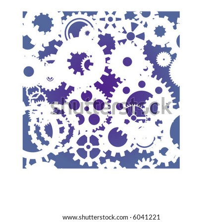 A seamless repeating gear background - stock vector