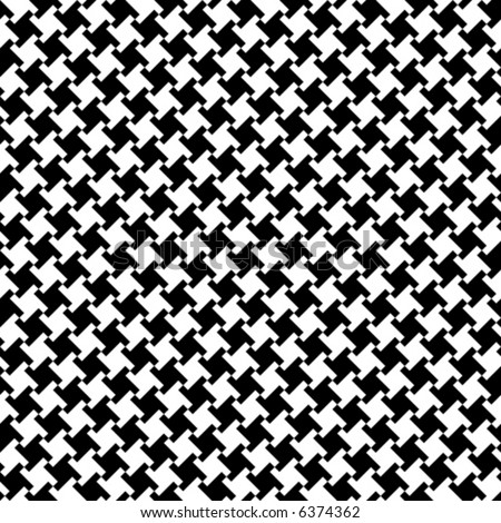 A seamless, repeating vector houndstooth pattern in black and white.