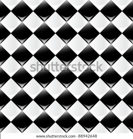 A seamlessly repeatable glossy checkered pattern. Eps 10 Vector.