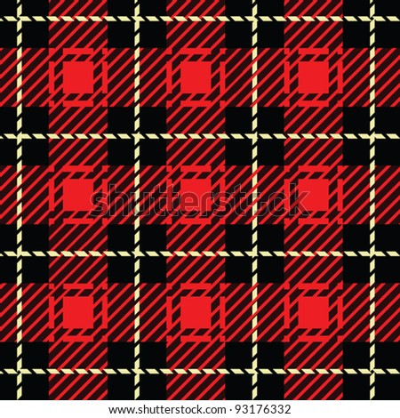 A seamlessly repeatable red plaid pattern.