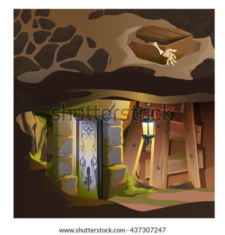 a secret door in the dungeon