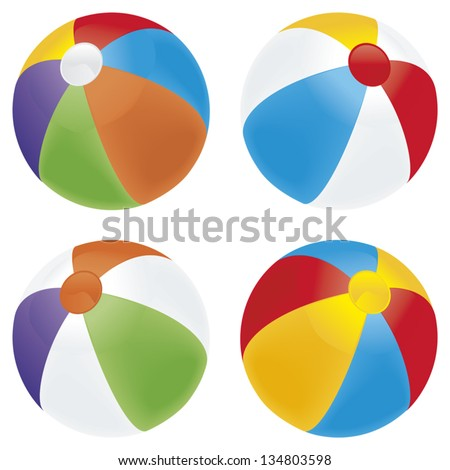a selection of beach balls in
