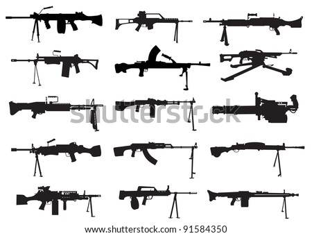 a selection of shapes machine guns