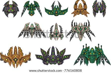 a set contains various alien