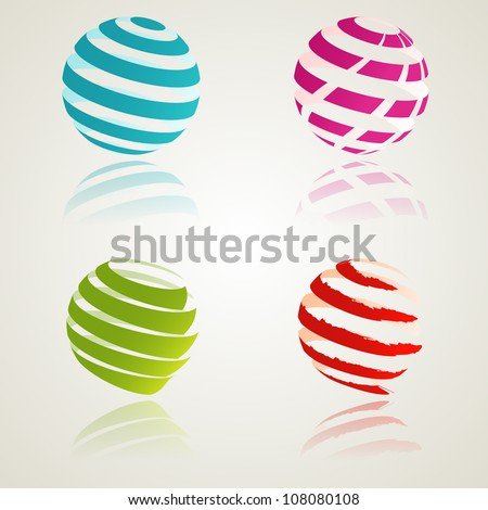 A set of abstract bcolor icons. Vector illustration. Eps10.