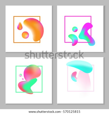 a set of abstract colorful