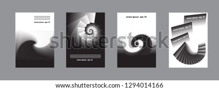 A set of abstract design for book cover, presentation, brochure, catalog, poster, magazine. Spiral design. Eps10 vector. #1294014166