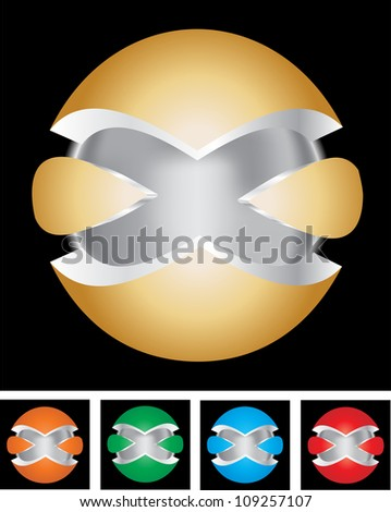 A set of abstract Global  icon. Vector illustration.