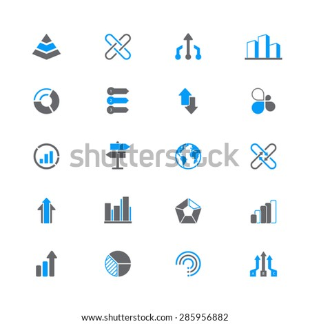 A set of 20 abstract icons - symbols,infographic elements.EPS 10 vector. Easy to edit and resize .