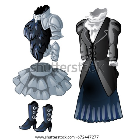 a set of animated women's