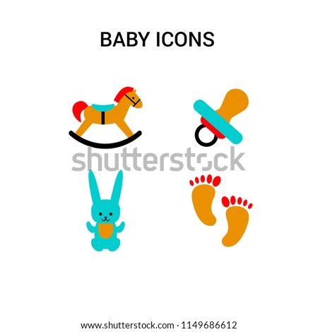 a set of baby symbols of a toy
