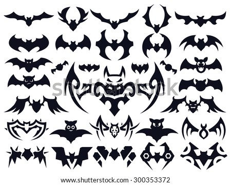 a set of bats in different