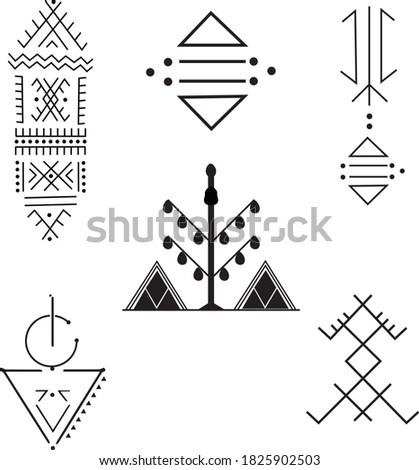 a set of berber tattoos