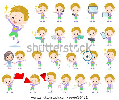 a set of boy with digital