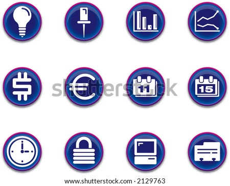 a set of business/office themed icons