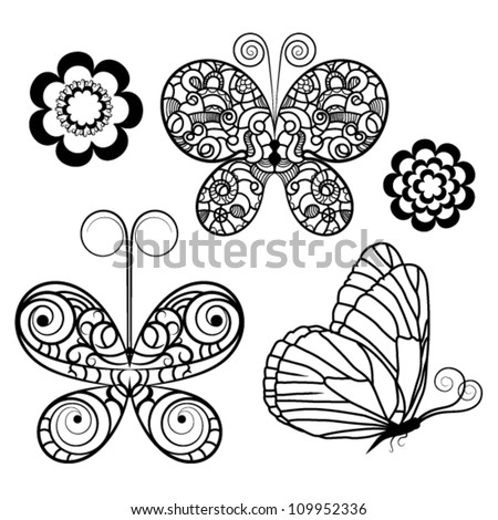 Simple Contour Line Drawings of Flowers Flowers Contour Drawing