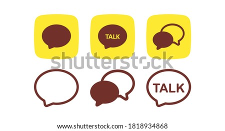 A set of buttons with messages. Chat messenger set icon. Vector illustration