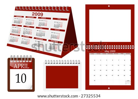 a set of calender templates - stock vector