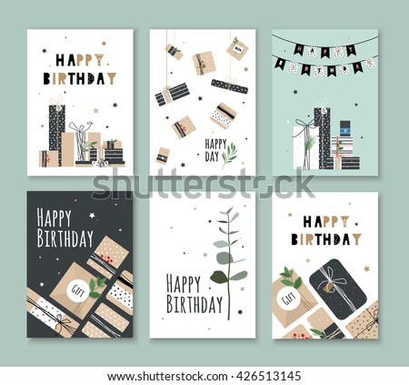 Happy Birthday Card Download Free Vector Art Stock Graphics Images