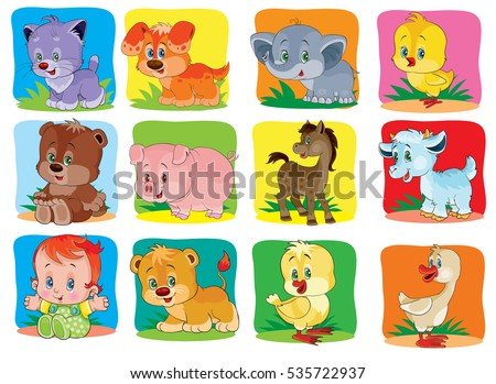 a set of children's icons