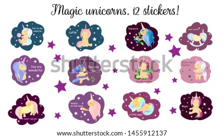 a set of children's stickers