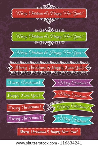 A set of Christmas design, vector illustration