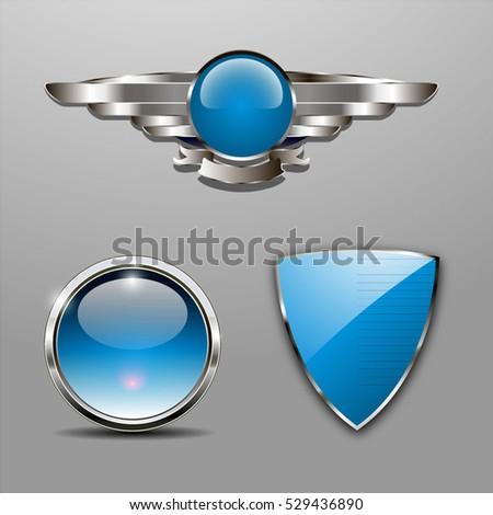 a set of chrome metallic...