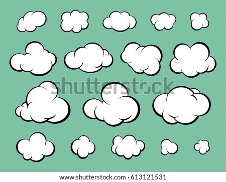 a set of clouds for comics