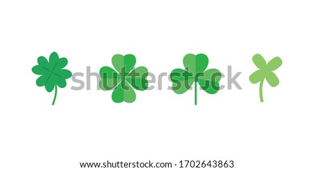 a set of clover leaves with