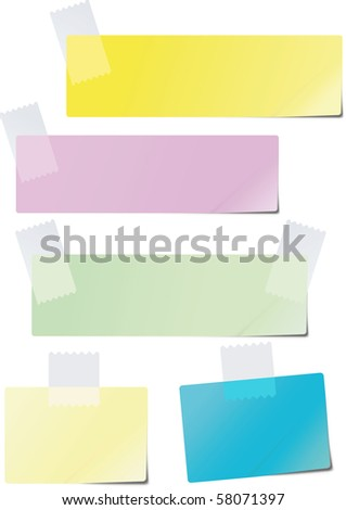 A set of colored paper glued to the recording tape