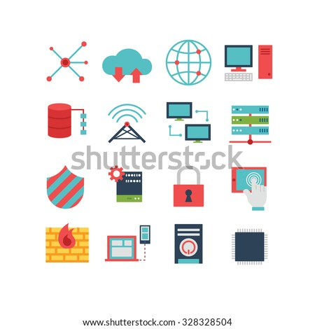 A set of computer related icons, eps 10, no transparencies