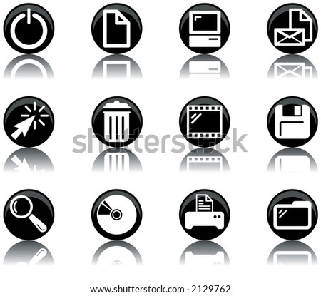 a set of computer themed icons