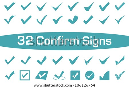 A set of 32 Confirm Signs for everyday Life's use