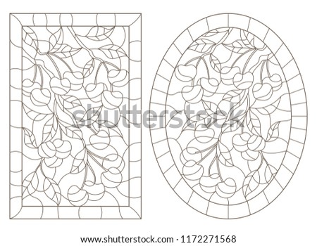 a set of contour illustrations
