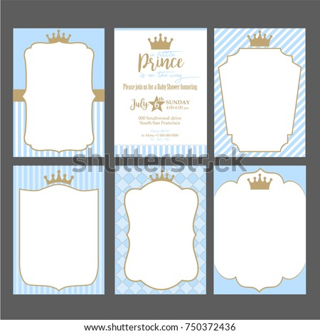 a set of cute blue templates