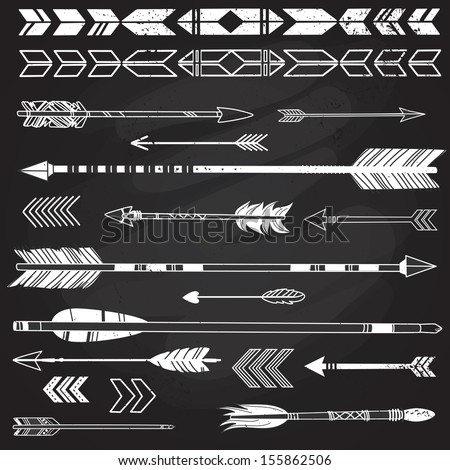 a set of cute hipster arrows ...