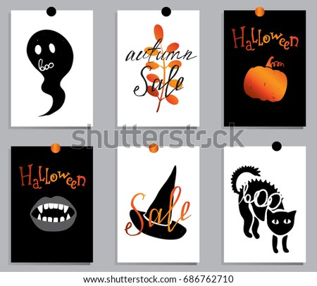 a set of designs for autumn and