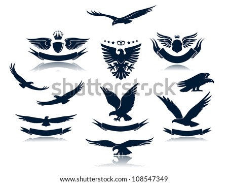 a set of eagles silhouettes