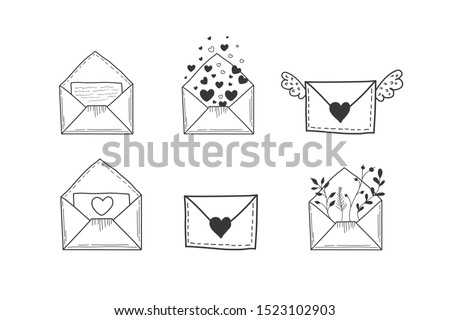 a set of envelopes vector