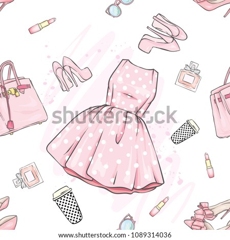 a set of fashionable women's