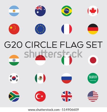 a set of flat vector circle