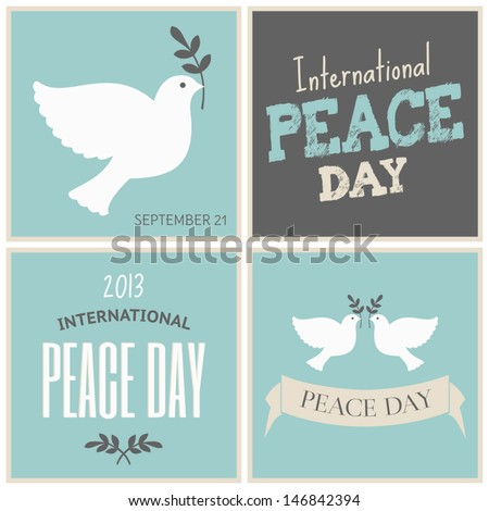A set of four designs for the International Day of Peace.