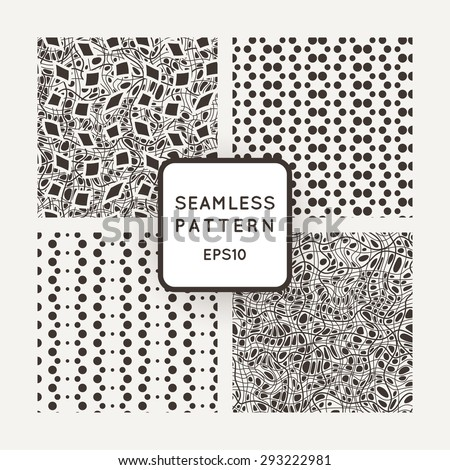 A set of four vector patterns in monochrome