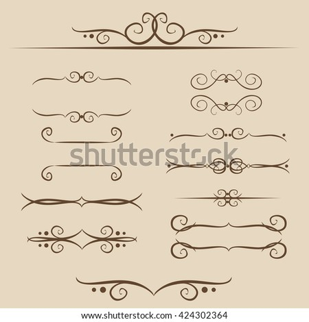 A set of frames, ornaments monograms for Text and web